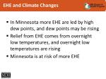ehe and climate changes