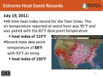 extreme heat event records