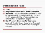 participation fees