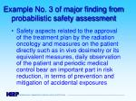 example no 3 of major finding from probabilistic safety assessment