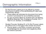 demographic information7