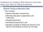 guidelines for students who receive instruction away from sites of official enrollment