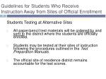 guidelines for students who receive instruction away from sites of official enrollment1