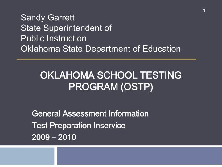 oklahoma school testing program ostp n.