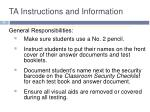 ta instructions and information1