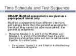 time schedule and test sequence4