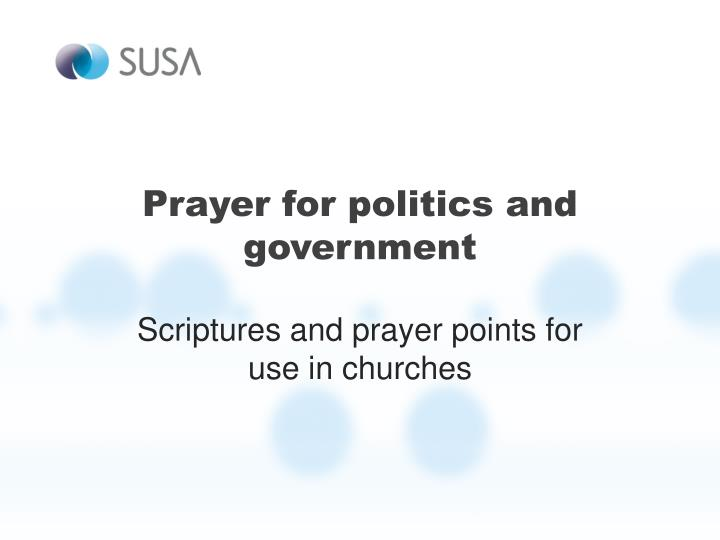 prayer for politics and government n.