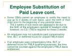 employee substitution of paid leave cont