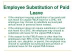 employee substitution of paid leave