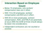 interaction based on employee count