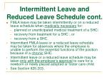 intermittent leave and reduced leave schedule cont