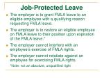 job protected leave