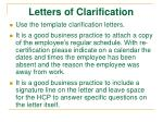letters of clarification