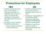protections for employees