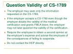 question validity of cs 1789
