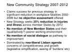 new community strategy 2007 2012