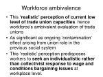 workforce ambivalence