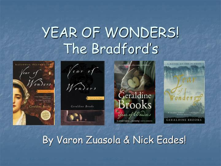 year of wonders the bradford s n.