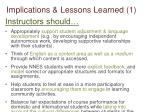 implications lessons learned 1
