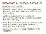 implications lessons learned 2