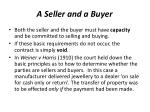 a seller and a buyer