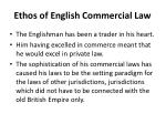 ethos of english commercial law