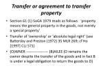 transfer or agreement to transfer property