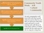 community youth work 4 h school community