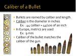 caliber of a bullet