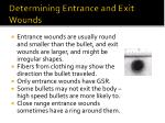 determining entrance and exit wounds