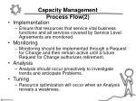 capacity management process flow 2