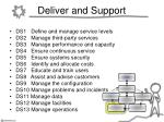 deliver and support