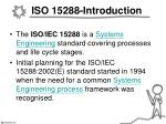 iso 15288 introduction