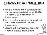 iso iec tr 15504 7 scope cont