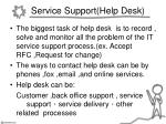 service support help desk