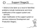 support stage 3