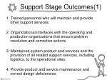 support stage outcomes 1