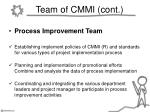 team of cmmi cont