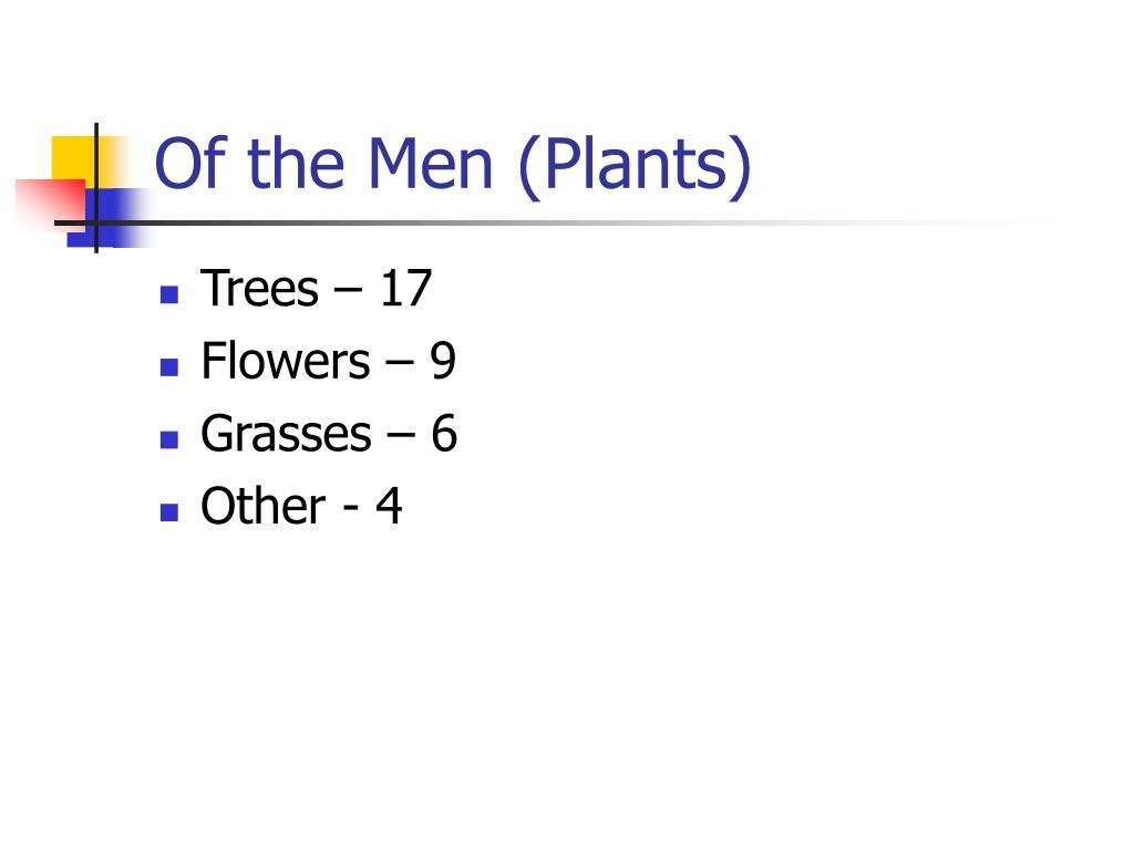 Of the Men (Plants)