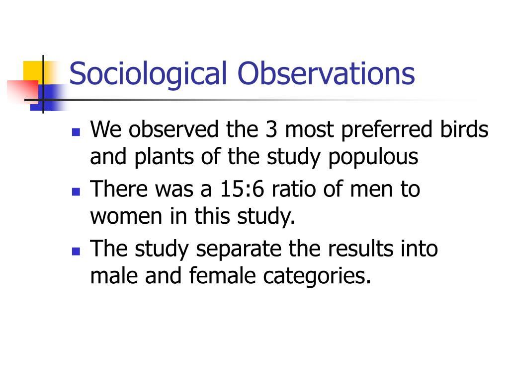 Sociological Observations