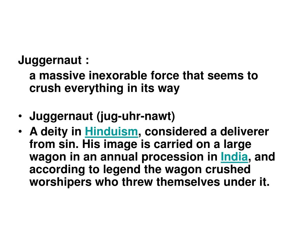 Juggernaut :