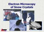 electron microscopy of snow crystals