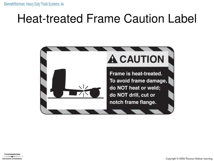 Heat-treated Frame Caution Label