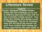 literature review con t1