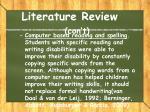 literature review con t3