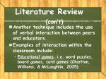literature review con t4
