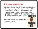 personal anecdotes