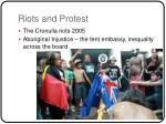 riots and protest