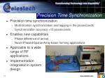 precision time synchronization