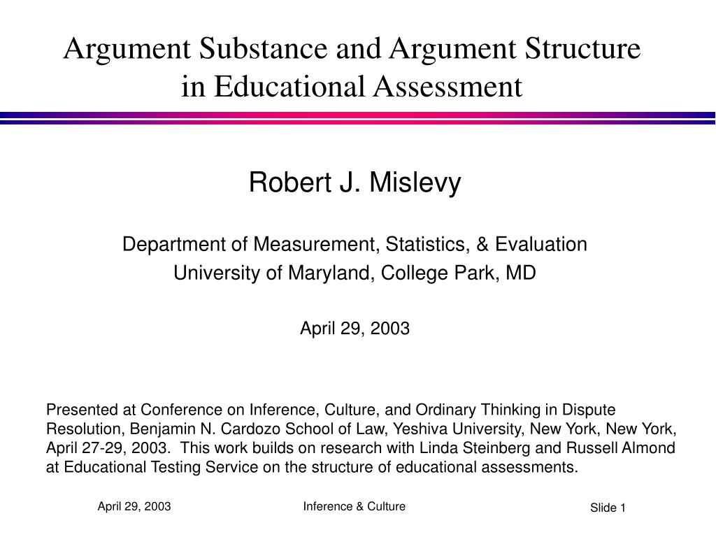 argument substance and argument structure in educational assessment